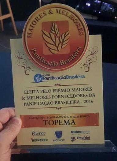 """Topema recebe Prêmio dos """"Melhores e Maiores da Panificação Brasileira"""""""