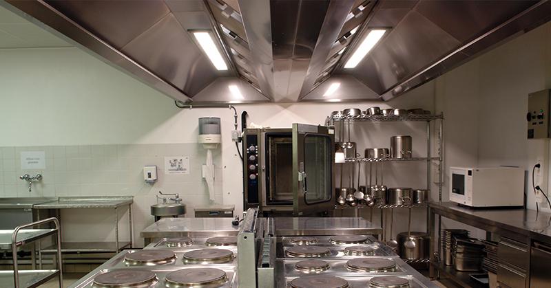 Ventilação em cozinhas profissionais