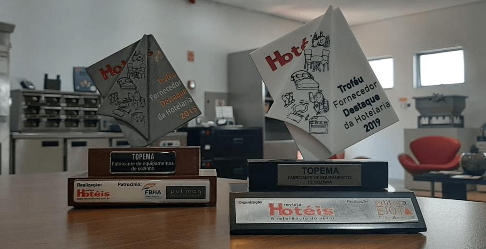 Compromisso com a qualidade! Topema recebe o prêmio Melhor Fornecedor da Hotelaria pela segunda vez!